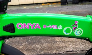 Nice simple graphics on the swooping top tube