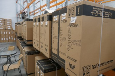 Boxes of Pacers waiting for your order