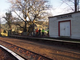 Taumarere Station - be careful when you cross the tracks