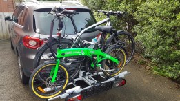 Bikes are held securely in lplace