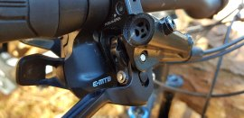 The SRAM e-MTB shifter only allows 1 shift at a time