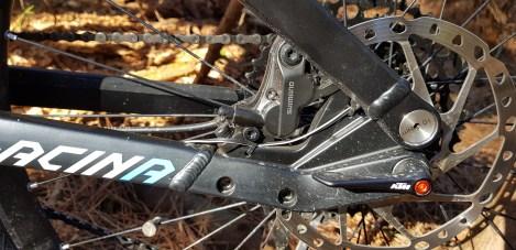 Shimano 4-piston brakes are powerful