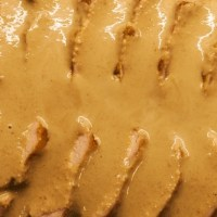 Roasted pork loin with hazelnut sauce