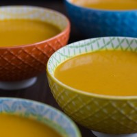 Autumn soup with curry and coconut milk