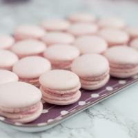 Rose macarons with rose preserve buttercream