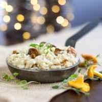 Creamy chanterelle mushroom risotto