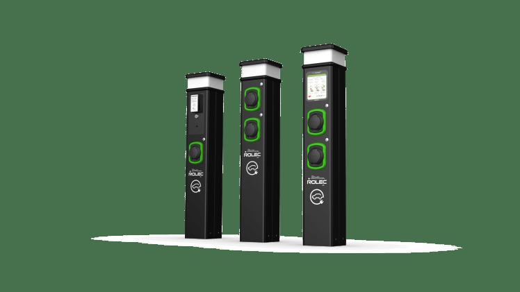 Rolec BasicCharge Range of charging posts / pedestals