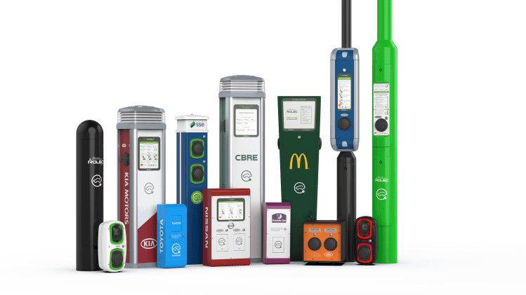 Branded EV charging stations and wall EV chargers from ECC UK