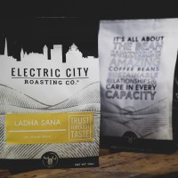 two bags of specialty coffee