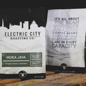 two bags of moka java specialty coffee from electric city roasting