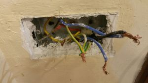 An electrician found the electrical wiring done by the owner is wrong. Therefore it causes direct shock. As a result, the main circuit breaker is damage.