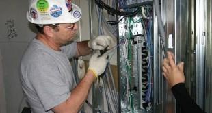 journeyman electrician inside panel