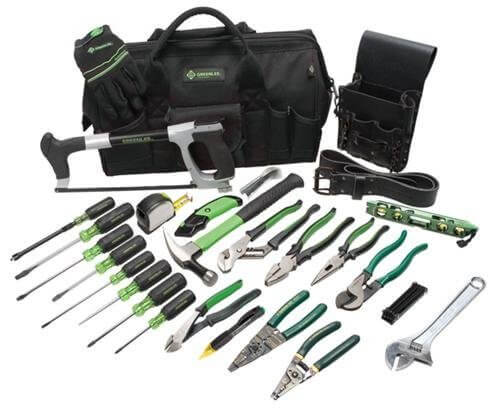 Greenlee 28 Piece Electricians Tool Kit