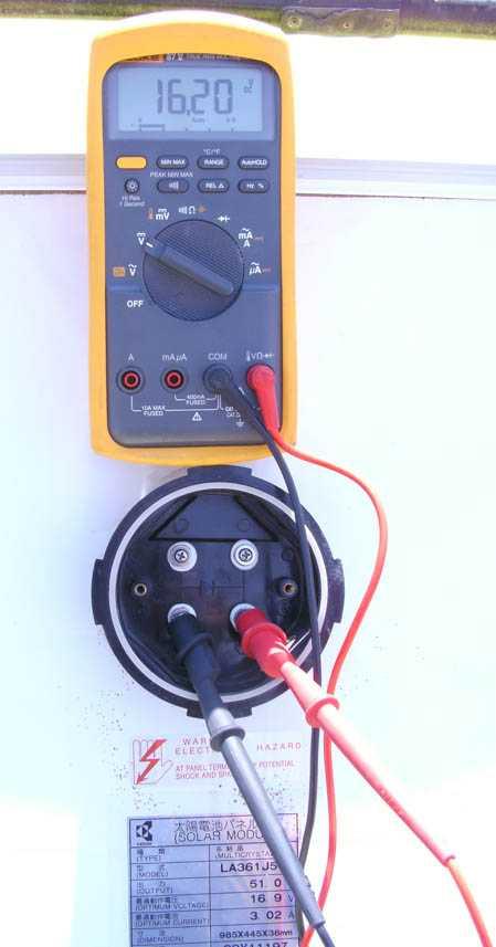 testeando módulo solar