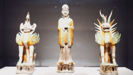 Tomb guardians, 7th-8th century China
