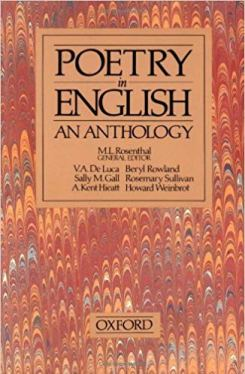 Poetry in English: An Anthology, ed. M.L. Rosenthal
