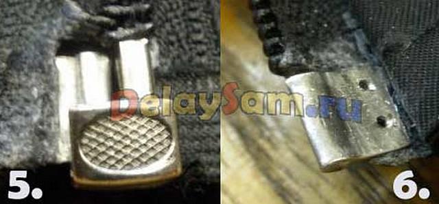 Extractor de reparación de Cremallera Cremallera de latón antiguo bolsa del pantalón Chaqueta de repuesto dañado