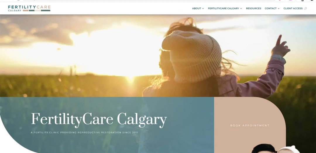 Fertility Care Calgary Website Design