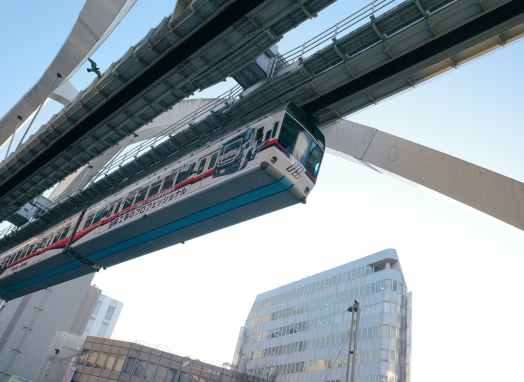 Electricity powering monorails.