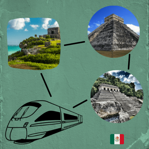 Mayan train will be connecting Palenque, Chichen-Itza and Tulum amoung other strategic points in southern Mexico.
