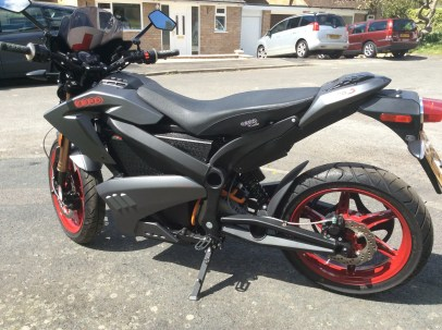 Zero Motorcycle rear view