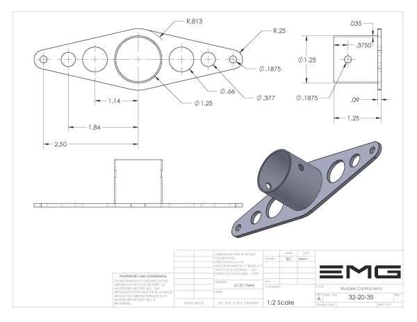 Rudder Control Arm