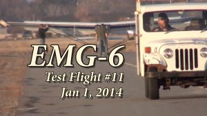 EMG-6 Flight Test #11 Jan 1, 2017  (Video)
