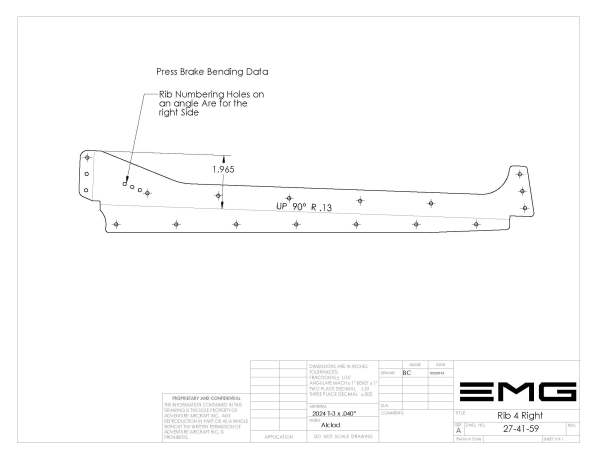 rudder rib 4 right