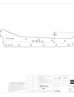 rudder rib 5 left