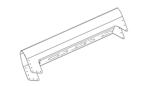 rudder leading edge bent