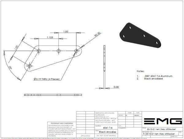 Vertical Stabilizer Leading Edge Bracket
