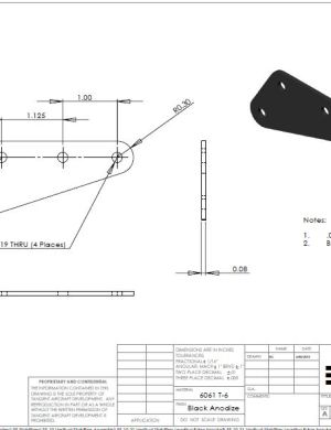 Vertical Stabilizer Leading Edge Bracket