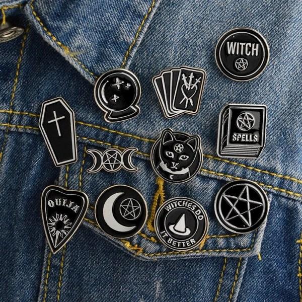goth pin set