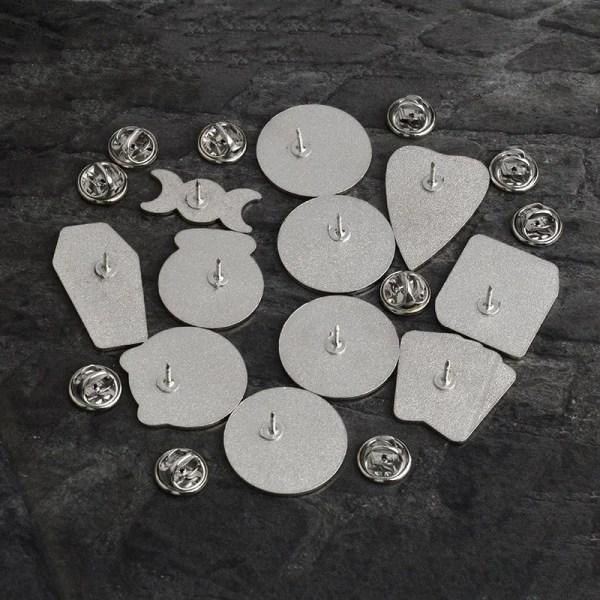 goth pins alloy