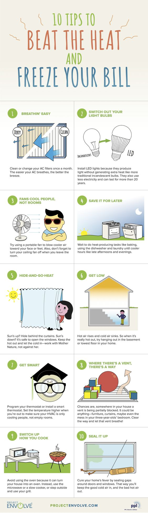 beat the heat: ways to conserve energy