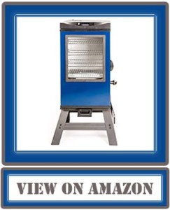 """Best Masterbuilt 20076816 4-Rack Digital Electric Smoker with Leg Kit Cover and Gloves, 30"""", Blue"""