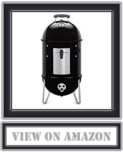 Top Weber 711001 Smokey Mountain Cooker 14-inch Charcoal Smoker, Black