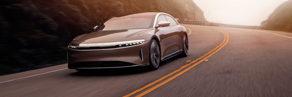 Lucid Air on road