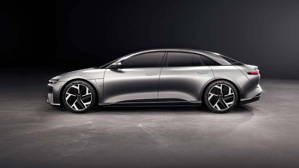 Lucid Air side shot