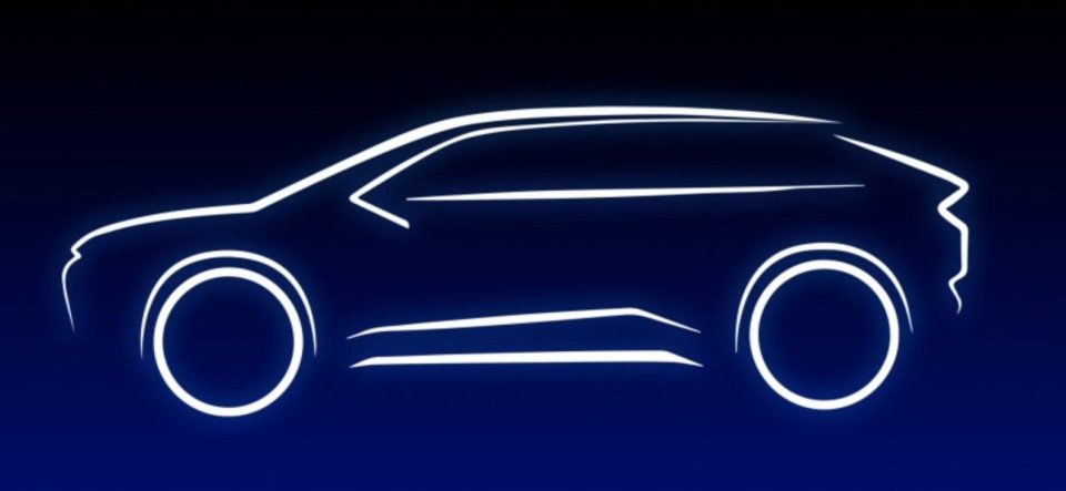 Toyota electric SUV silhouette