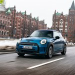 MINI Cooper SE on the road