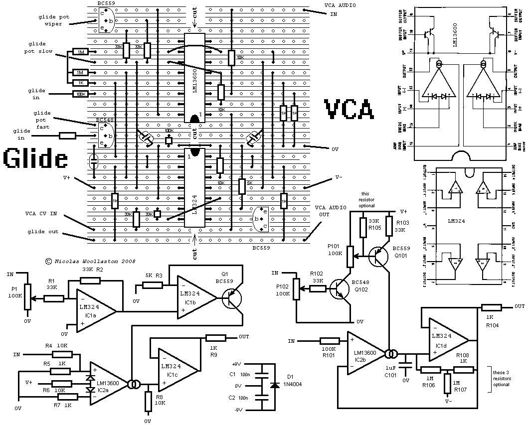 Woolaston Vero Stripboard Schematics