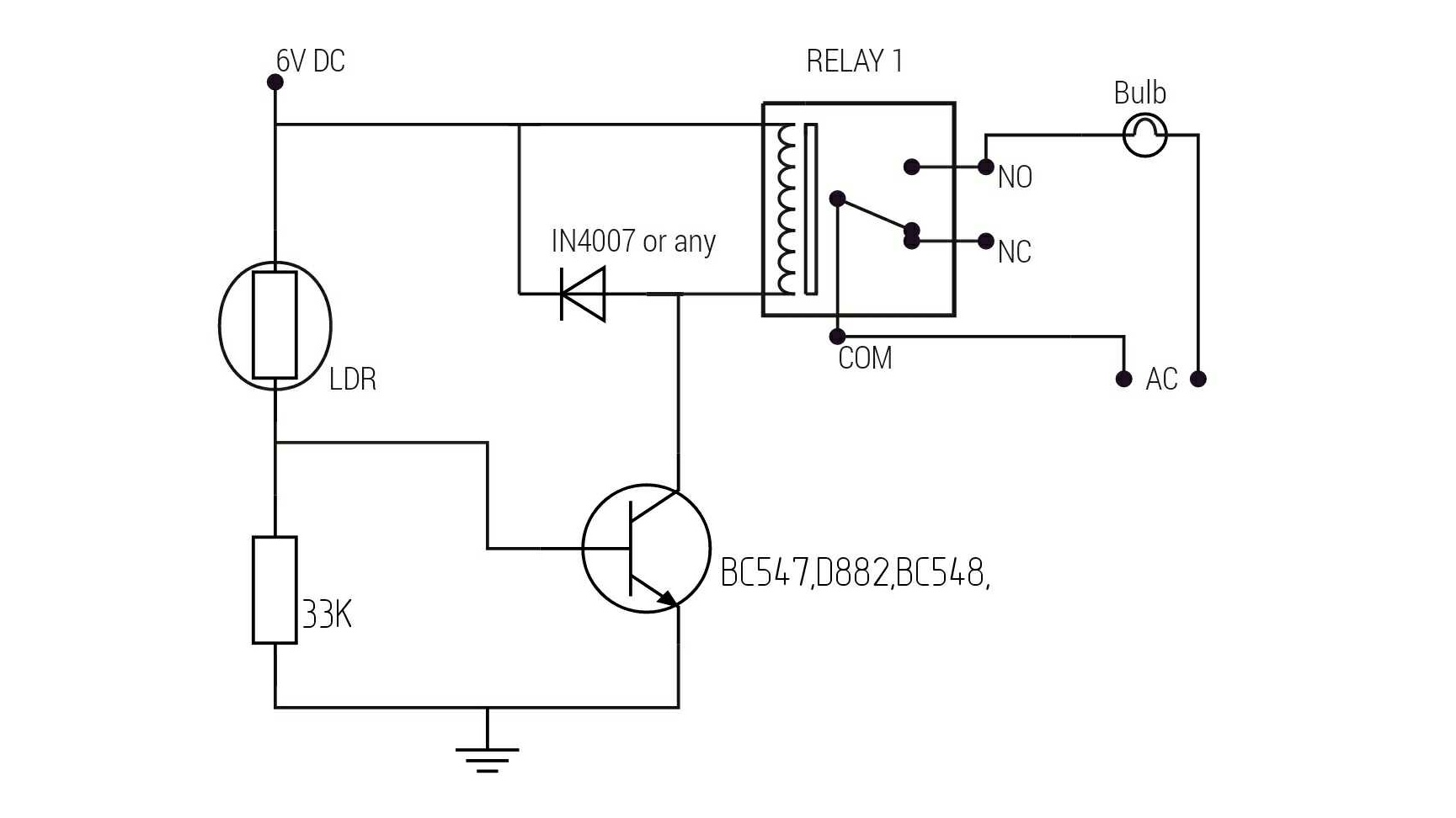 Automatic Light With Ldr Circuit Diagram Welcome