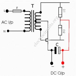 half wave using center tapped transformer