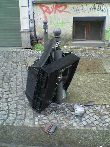 Tv Set Massacre by agoasi on Flickr under cc license