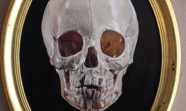 Child skull,with oil