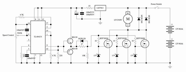 Pwm Dc Motor Controller Schematic