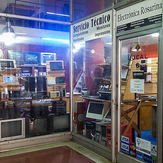 Foto del local de Electrónica Rosarina en la Galería Capri