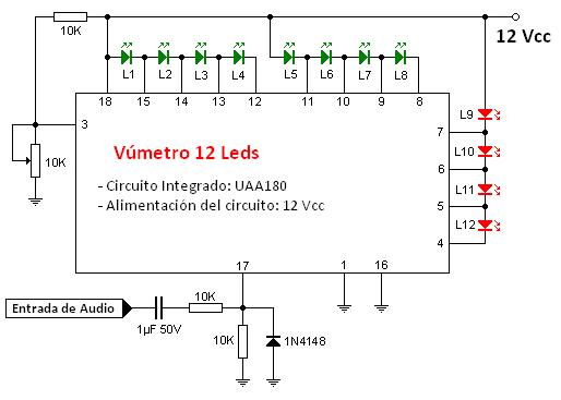 Vúmetro a base de leds (2/5)