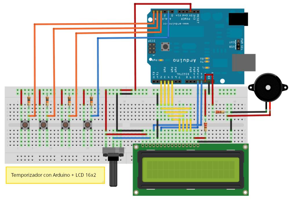 Temporizador: Arduino + LCD (3/3)